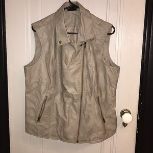 Gently used faux leather vest.